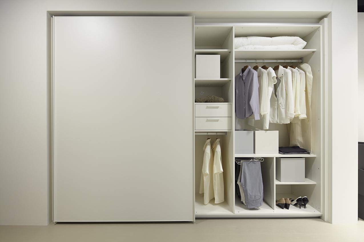 Armario puertas correderas blanco roto cocinas urriza - Interiores de armarios leroy merlin ...